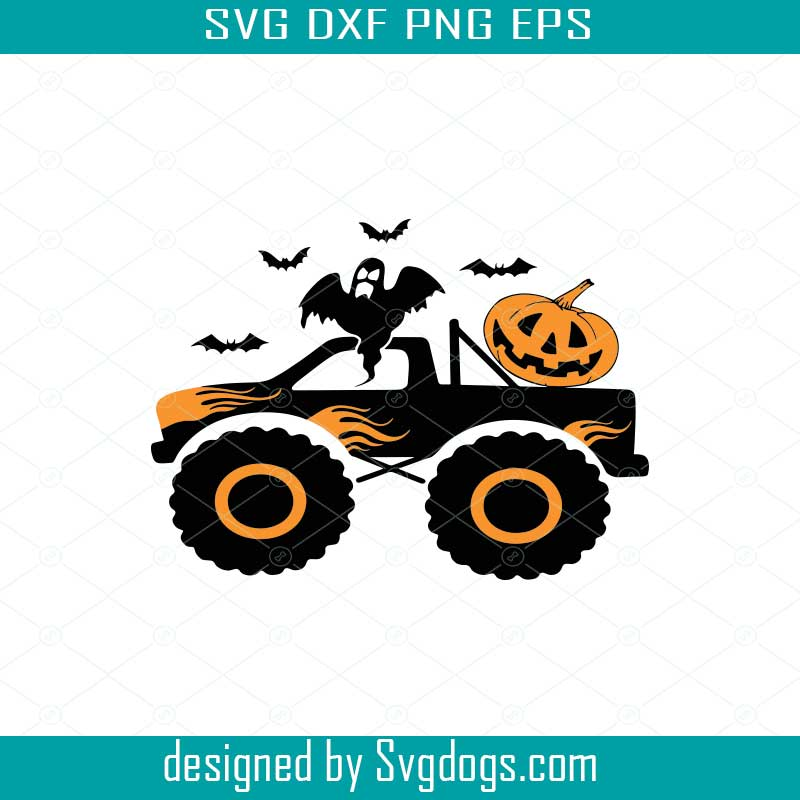 Pumpkin Monster Truck Svg Boys Halloween Svg Svgdogs