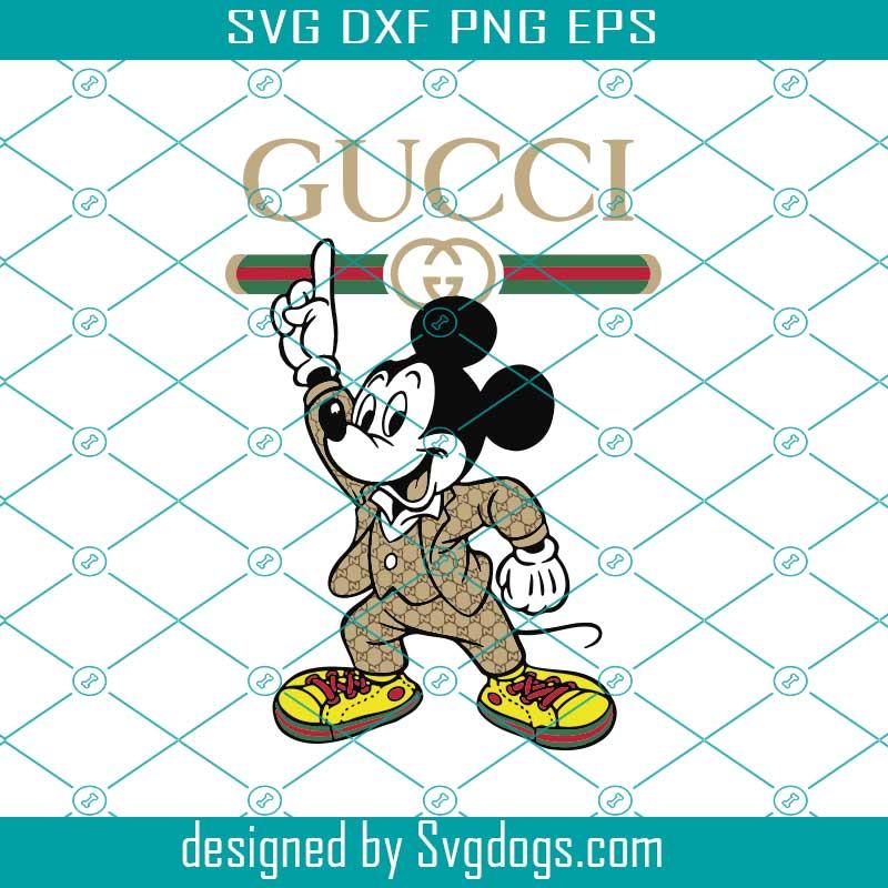 Gucci Disney Inspired Svg Mickey Mouse Svg Svgdogs