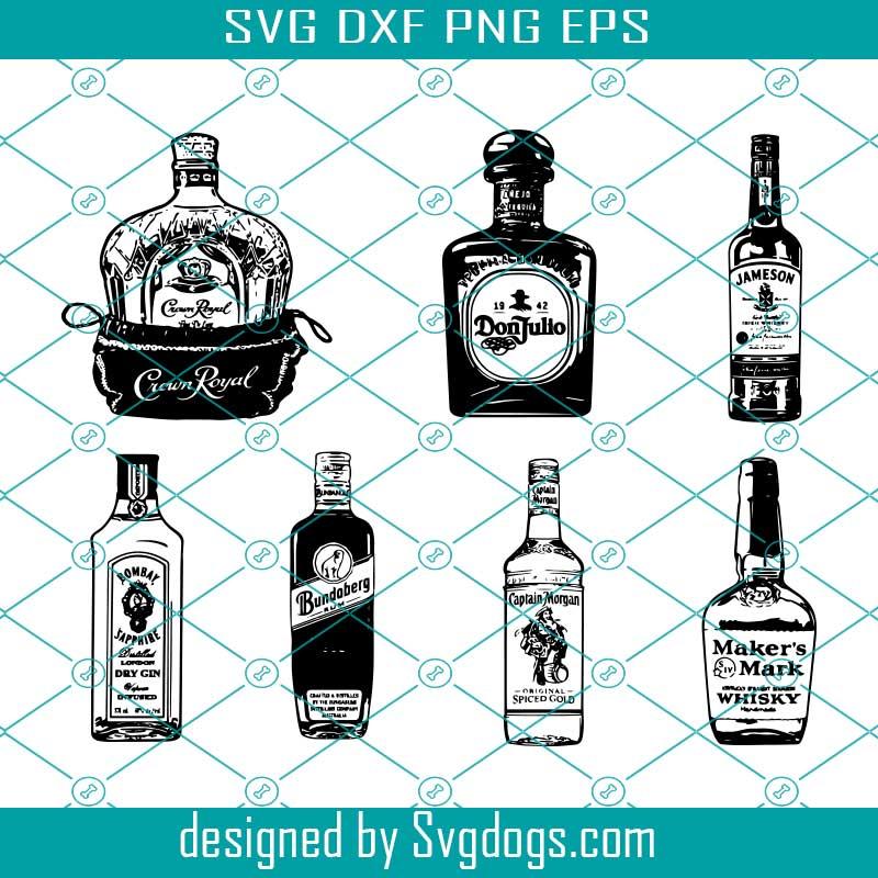 Alcohol Giant Bundle Bottles Labels Svg Svgdogs