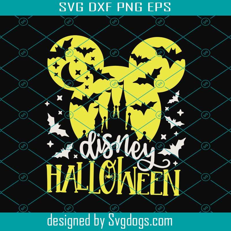 Halloween Castle Svg Mickey Head Bats Svg Disney Halloween Svg Svgdogs