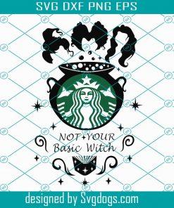 Hocus Pocus Disney Theme Svg Witch Svg Halloween Wrap Svg For Starbucks Venti Cold Cup 24 Oz Svg Svgdogs