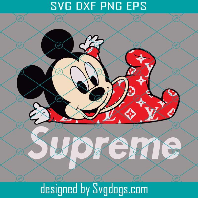 Baby Mickey Supreme Svg Disney Svg Mickey Svg Svgdogs