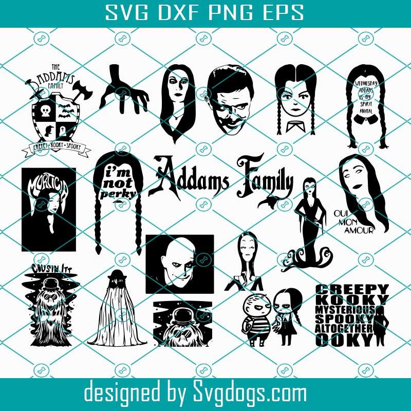 horror svg Wednesday Addams SVG The addams family svg gothic svg halloween svg