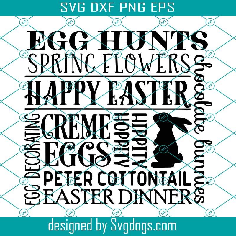 Easter Bunny Svg Happy Easter Svg Silhouette Cricut Easter Shirt Svg Easter Quotes Easter SVG Bundle Egg Hunt Champion SVG Cut File