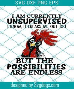 I Am Currently Unsupervised I Know Svg
