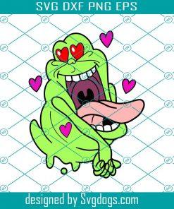 Slimer Heart Love Svg