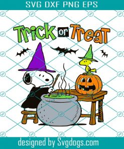 Trick Or Treat Snoopy Halloween Svg