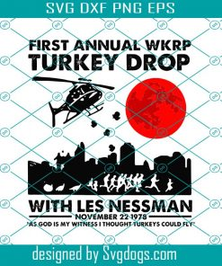 First Annual WKRP Turkey Drop With Les Nessman Svg