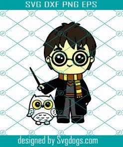 Wizard Chibi Owl Svg