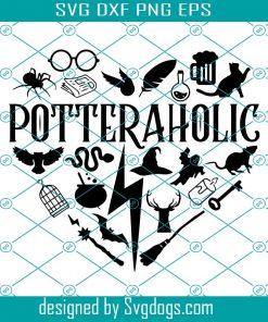 Potteraholic Svg