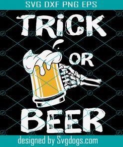 Trick Or Beer Svg