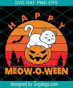 Happy Meow O Weet Svg