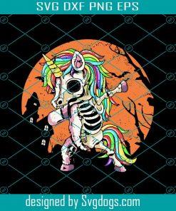 Halloween Zombie Unicorn Svg