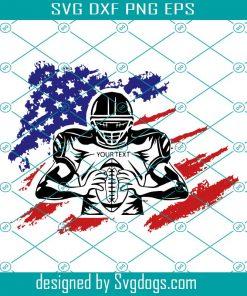 US Football Player Svg