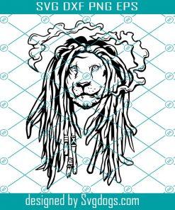 Rasta Lion Svg