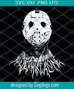 Ghost Jason Metal White Only Svg