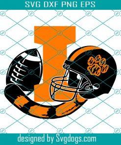 Ironton Tigers Football And Helmet Svg