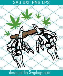 Skeleton Rolling Cannabis Svg