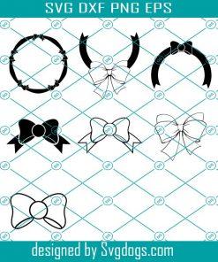 Bow Monogram Frames Svg