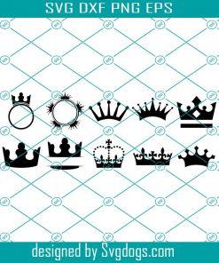 Crown Monogram Frames Svg