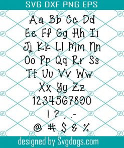 Jelly Bean Alphabet Svg