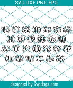 Vine Monogram Alphabet Letters Svg