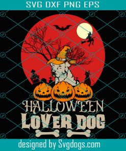 Halloween Lover Dog Svg