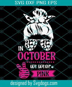 Breast Cancer Awareness Woman Svg