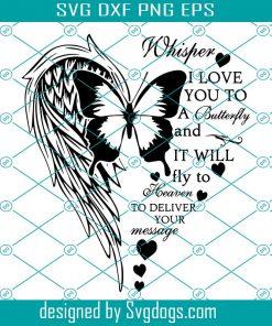Memorial Angel Wings Svg