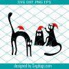 Xmas Cats Svg