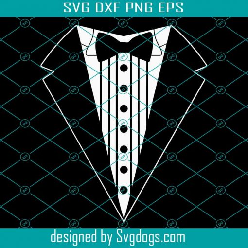 Tuxedo With Bow Tie Svg