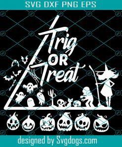 Halloween Math Teacher Trick Or Treat Joke Svg