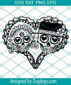 Skull With Flowers Svg