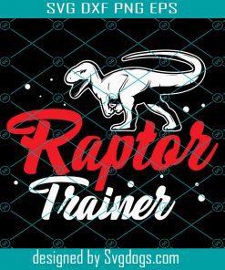 Raptor Trainer Halloween Dinosaur T-Rex Svg