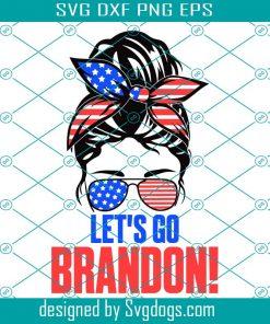 KisLet's Go Brandon American Flag Impeach Biden Svg