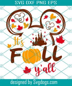 Mouse It's Fall Y'all Svg