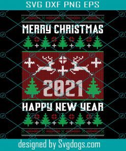 Merry Christmas 2021 Svg