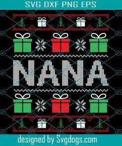 Nana Ugly Christmas Sweater Svg