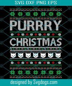 Purrry Christmas Svg