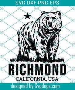 Richmond California Grizzly Bear Svg