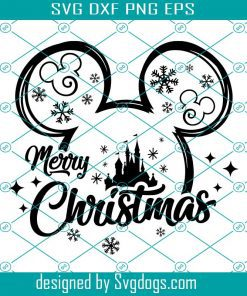Mouse Merry Christmas Svg